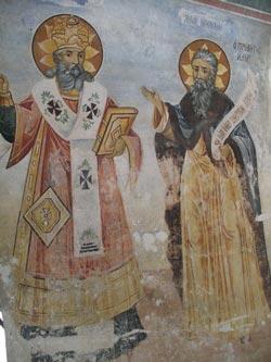 Бачковский монастырь - настенные росписи