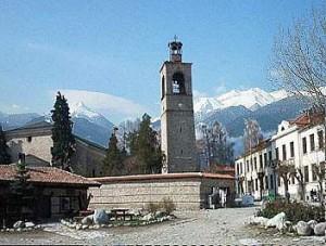 Банско-колокольня, горнолыжный курорт, отдых Болгария, зимний отдых