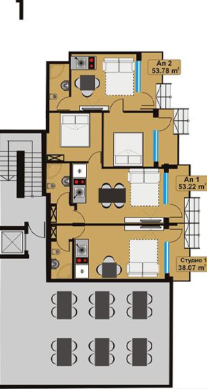 квартиры в новом комплексе на курорте Приморско