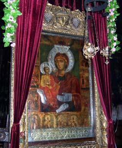 Троянский монастырь - икона Пресвятая Богородица Троеручица
