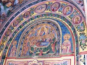 Троянский монастырь - настенные росписи - Захарий Зограф