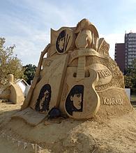 песчаные скульптуры Бургас 2013 - Битлз