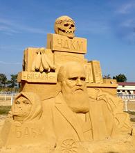 песчаные скульптуры Бургас 2013 - Дарвин