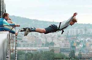 прыжки с тарзанки в Болгарии