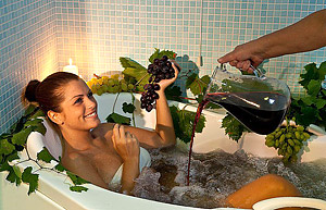 Ванна с добавлением красного вина