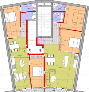 план трехкомнатной квартиры Святой Влас