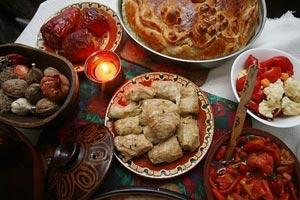 Быдни вечер-угощение на быдни вечер-трапеза-Болгария