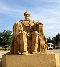 песчаные скульптуры Бургас 2013 - Линкольн