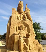 песчаные скульптуры Бургас 2013 - болгарский царь