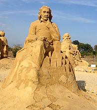 песчаные скульптуры Бургас 2013 - Энштейн