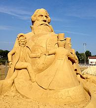 песчаные скульптуры Бургас 2013 - Жуль Верн