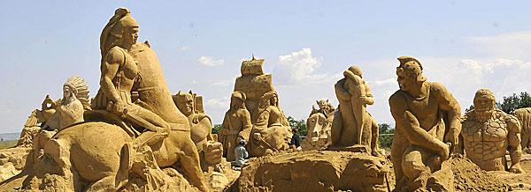 Песчаные скульптуры Бургас 2014